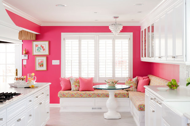 Kitchen of the Week: A Punch of Pink for a White Kitchen