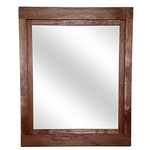 """Renewed Decor - Red Chestnut Farmhouse Style Vanity Mirror 24""""w x 30""""h - Give any room in your home charm with this handmade reclaimed styled wood mirror. The wood has been given new life sanded and restored. It now it deserves a place to rest holding a mirror for your family and friends to enjoy for years to come."""