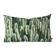 """Lisa Argyropoulos The Gathering Green Oblong Throw Pillow, 23""""x14"""""""