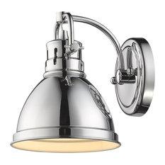 Golden Lighting   Duncan 1 Light Vanity Fixture, Chrome, Chrome/Chrome