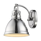 Duncan 1-Light Vanity Fixture, Chrome, Chrome/Chrome