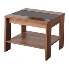 Hollywood Lamp Table, Walnut Veneer