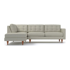 Logan 2-Piece Sectional Sofa, Bisque, Chaise on Left