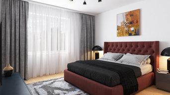 Schlafzimmer 3D Visualisierung 2