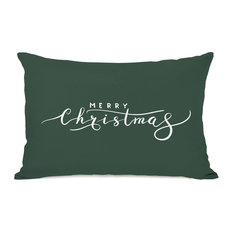 """Merry Christmas"" Indoor Throw Pillow by OneBellaCasa, 14""x20"""