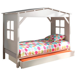 Pino Room Set, White, Underbed