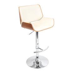 lumisource santi barstool walnut and cream bar stools and counter stools