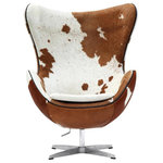 Modholic.com - Egg Chair Real Cow Hide, Single - We don't use the word masterpiece lightly at Modholic, but Egg chair undoubtedly qualifies. Fifty years after its creation, it continues to bring a sophisticated presence to almost any room in any home. And it isn't just an elegant and timeless design – its cocooning shape means that it isn't so much a chair as a place in which to sit.