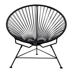 Innit Chair, Black Weave, Black Frame