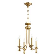 Rossington 4-Light Chandelier, Aged Brass