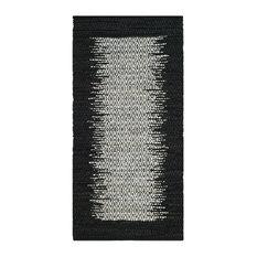 """Safavieh Vintage Leather Collection VTL387 Rug, Light Grey/Black, 2'3"""" X 9'"""