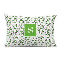 Lumbar Pillow Tee Time Single Initial, Letter A