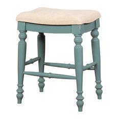 Marino Blue Backless Counter Stool