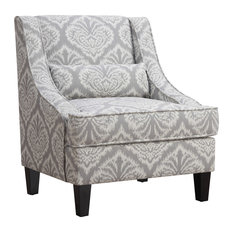 coasterfine furniture jacquard patterned accent chair armchairs and accent chairs - High Back Living Room Chairs