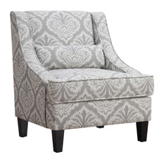 coasterfine furniture accent seating jacquard patterned accent chair armchairs and accent chairs - High Back Living Room Chairs