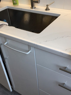 Here Is What Chantilly Lace Flat Panel Looks Like Against The Silestone