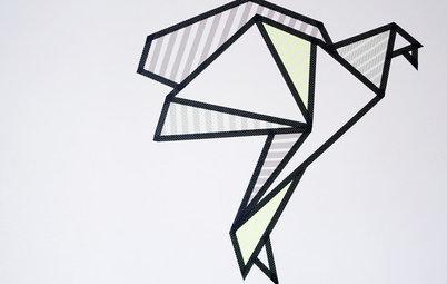DIY : Réalisez votre propre décoration murale en masking tape