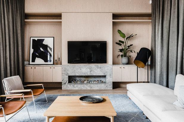 Contemporary Living Room by Studio Ezra