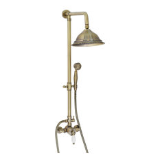 Enki 204 mm Shower Set Brass Thermostatic Sequential Antique Bronze Traditional