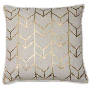 Geometric Chevron Metallic Cushion