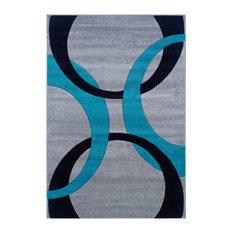 "Modern 34""x23"" Rectangle Area Rug, Gray"