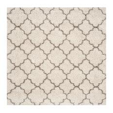 Safavieh Jerod Shag Rug, Ivory and Gray, 7'x7' Square