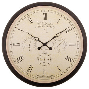Nextime Wehlington Weather Station Clock, Large