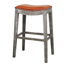 Stedman Leather Bar Stool Pumpkin Stools And Counter