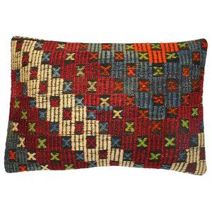 Red, White and Blue Kilim Cushion
