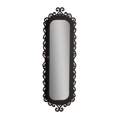 wall mounted jewelry armoire mirror with gloss black scrollwork border jewelry armoires