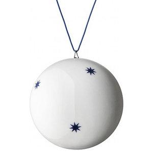 Anne Black Xmas Ball Ornament, Blue, Large