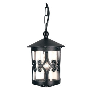 Traditional Small Tube Outdoor Porch Chain Lantern