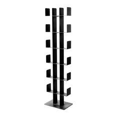 B.Blos Steel Bookshelf, Black