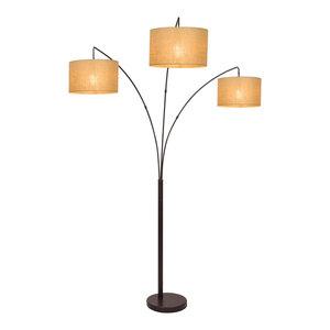 Revel Kira Home Toro Wood Floor Lamp With Shelves Black