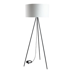 Fabric Floor Lamp, White