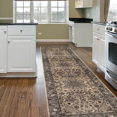 """WORLD RUG GALLERY - Traditional Oriental High Quality Medallion Design Area Rug, Gray, 24""""x86"""" - Hall and Stair Runners"""