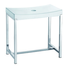 Stainless Steel Shower Bench, White