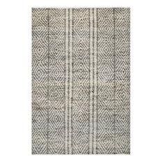 nuLOOM Handmade Jute/Sisal Cotton Tallulah Striped Area Rug, Dark Gray 9'x12'