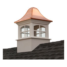 """Greenwich Vinyl Cupola With Copper Roof, 36""""x56"""""""