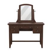 Modern Mission Vanity and Mirror, Vintage Oak