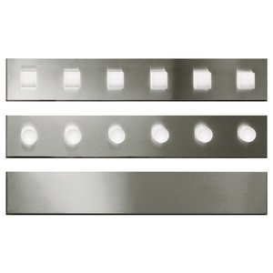 Ego Lineare Wall Light, Satin Stainless Steel