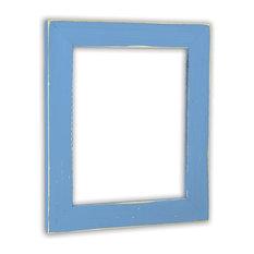 "Vintage Spa Blue Picture Frame, Solid Wood, 18""x24"""