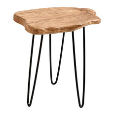 Welland Industries LLC   Cedar Wood Stump End Table Rustic Surface Side  Table   Side Tables