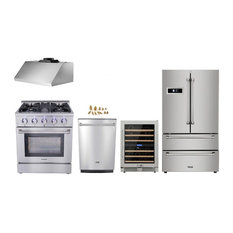 30 Gas Range Thor Kitchen 5 Piece Bundle H5w2 With Lp Conversion