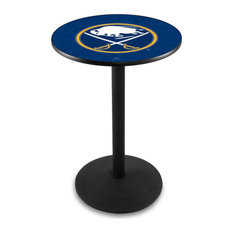 L214 - 42-inch Black Wrinkle Buffalo Sabres Pub Table by Holland Bar Stool Co. by Holland Bar Stool Company