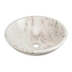 Polaris P058W Granite Vessel Sink, White