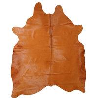 Free-form Cowhide Rug, Pumpkin, 6x7'