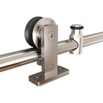 Custom Service Hardware - Top-Mount European Style Rolling Door Hardware - This stainless steel rolling barn door hardware will provide durability and sophistication to your rolling door with a more modern look.
