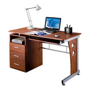 Hinesville Computer Desk With Storage Drawer White Wood