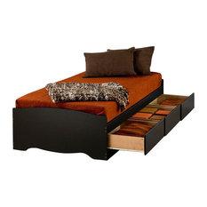 Prepac Furniture - Prepac Sonoma Black Twin XL Platform Storage Bed with  Drawers - Kids Beds